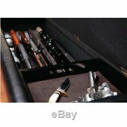 CONCEALMENT BENCH GUN Safe, Storage Cabinet Hidden Case Furniture Shotgun Rifle