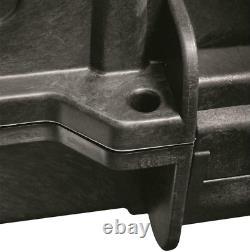 Carry Double Rifle Hard Case 2 Wheels Padded Gun Storage Waterproof Lock Box TSA