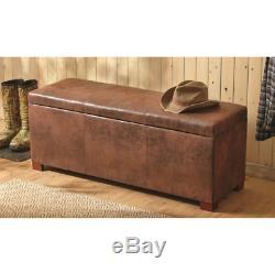 Concealment Gun Firearm Safe Cabinet Storage Wood Bench American Home Furniture