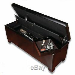 Decorative Firearm Safe Hidden Ottoman Gun Concealment Storage Bench With Lock