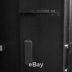 Digital Gun Safe Box 5-Rifle Firearm Storage Cabinet with Keys & Password Black