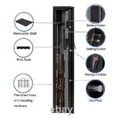 Digital Keypad Gun Safe Cabinet 2-3 rifles and 4 slots Storage Rifle Safe Box