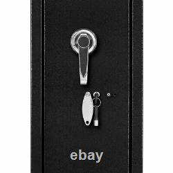 Digital Lock Gun Safe Metal Rifle Handgun Firearm Storage Security Cabinet Case