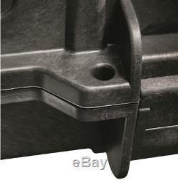 Double Carry Rifle Hard Case Wheels Padded Waterproof 2 Gun Storage Lock Box TSA