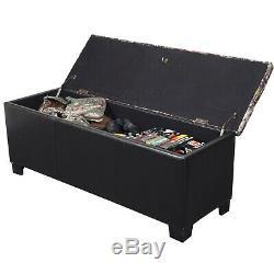 Firearm Storage Bench Cabinet Rifle Gun Safe Key Lock Rack Seat Hidden Concealed