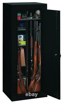 Firearm Storage Cabinet 18 Gun Security Rifle Shotgun Rack Steel Black Safe