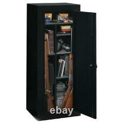 Firearm Storage Cabinet Black 18 Gun Security Rifle Shotgun Rack Steel Safe New