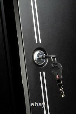 Fortress 20-Gun Large Steel Rifle Shotgun Security Cabinet Lock Safe Storage NEW