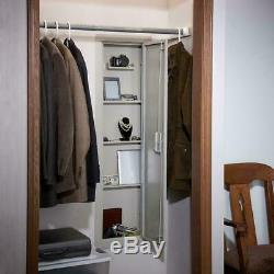 Full Length In-Wall Cabinet, Beige Gun Storage Safe Key Rifle Vault Security