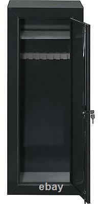 GUN SAFE CABINET Firearm Storage Shotgun 22 Rifles Steel Security Locker Shelf