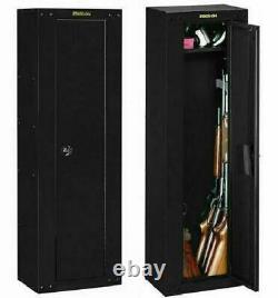 GUN SAFE SECURITY CABINET Firearm Shotgun 8 Rifles Steel Storage Locker Shelf