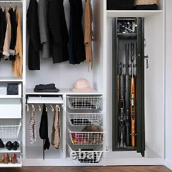 Great Working Tools Biometric Gun Safe Rifle Storage Cabinet Holds 4 Firearms