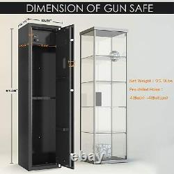 Gun Cabinet 5 Rifle Quick Access Ammo Firearms Stack On Storage Security Locker