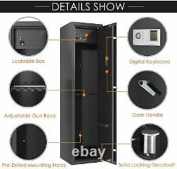 Gun Cabinet 5 Rifle Quick Access Firearms Ammo Stack On Storage Security Locker