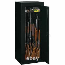 Gun Cabinet Safe Convertible Steel Home Security Storage Vault Rifle Firearms