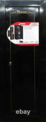 Gun Cabinet Safe Storage Security Vault Steel Firearms-Rifles Proof Lock Drill