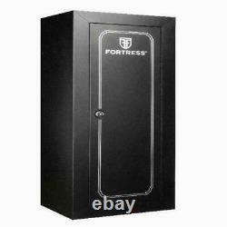 Gun Cabinet Safe Storage Security Vault Steel Rifles Firearms Drill Proof Lock