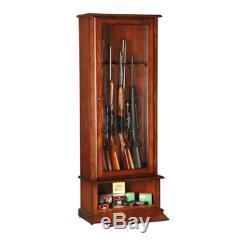 Gun Cabinet Storage Area Barrel Rest Fully Locking Door Firearm Security Safe