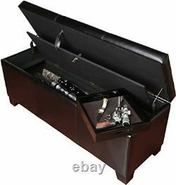 Gun Concealment Bench Cabinet 5 Rifles Storage Shotgun Firearm Safe Lock Rack