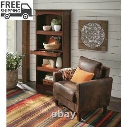Gun Concealment Bookcase Brown Wood Storage Organizer Home Furniture Security