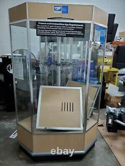 Gun Display Case 12 Gun Retail Store Commercial Case Spins + Lights Maple