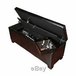 Gun Long Rifle Safe Storage Bench Seat Pistols Steel Locking Concealment Cabinet