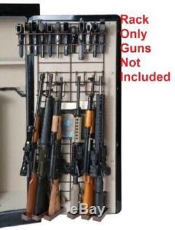 Gun Rack Organizer 6 Rifle 22 Pistols Safe Full Door Wide Storage Wire Hanger