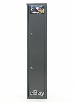 Gun Rifle Shotgun Metal Security Cabinet Safe Storage Case Rack Buffalo 1015