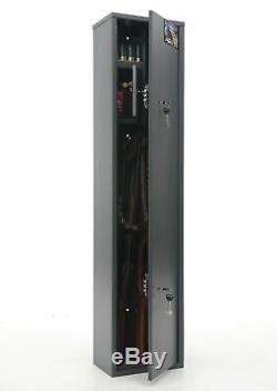 Gun Rifle Shotgun Metal Security Cabinet Safe Storage Case Rack Buffalo 1320