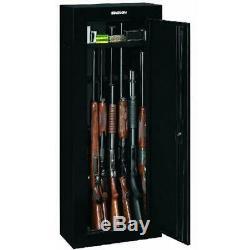 Gun Safe 8-gun Stack-On Security Cabinet Storage Locking System Rifle Shotgun