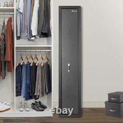 Gun Safe Box 3 Rifle Shotgun Security Cabinet Lock Storage Steel Closet Black US