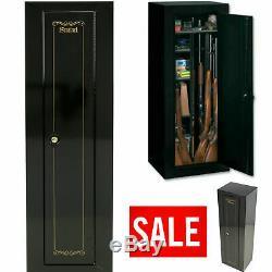 Gun Safe Cabinet 10 Rifles Storage Locker Shelf Rack Pistol Shotgun Lock