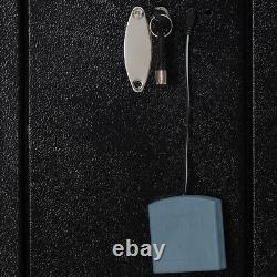 Gun Safe Cabinet Biometric Fingerprint Storage Box With2Handgun Holder for 5-Rifle