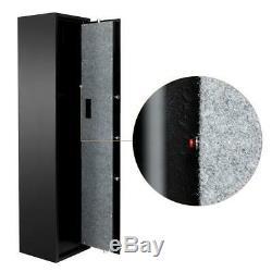 Gun Safe Cabinet Electronic Rifle Shotgun Storage with Separate Handgun Lockbox