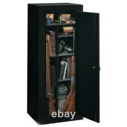 Gun Safe Cabinet Sentinel 18 Gun Fully Convertible Black Rifles Shotguns Storage