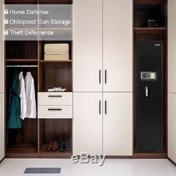 Gun Safe Gun Security Cabinet Box 5-Rifle Firearm Storage Cabinet Black USA