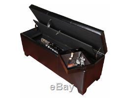Gun Safe Hidden Rifle Shotgun Pistol Storage Bench with Cushion Lock Seat