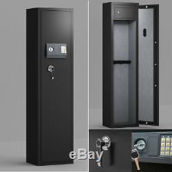 Gun Safe Large Firearm Rifle Storage Cabinet WithHandgun Lock Box for Ammo Handgun