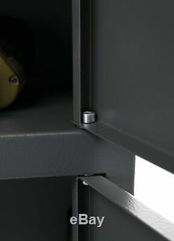 Gun Safe Rifle Shotgun Two Doors Metal Security Cabinet Storage Buffalo 1520