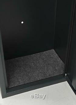 Gun Safe Security Cabinet Gun Rifle Shotgun Metal with Separate Handgun Storage