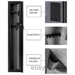 Gun Safe Storage Biometric Fingerprint Steel Rifle Shotgun Security Cabinet