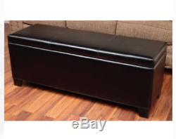 Gun Safe Storage Concealment Bench Cabinet Hidden Furniture Shotgun Rifle w Keys