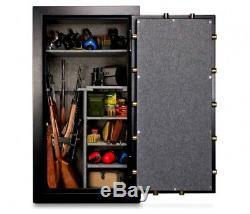 Gun Safe Vault Storage Firearm 24 Rifle Capacity Rack Securely Electronic Lock