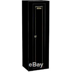 Gun Security Cabinet 10 Rifle Storage Locker Key Coded Double Bitted Lock Steel