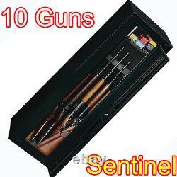 Gun Security Cabinet Safe Shotgun Rifle Firearm Storage Locker Key Locking Rack
