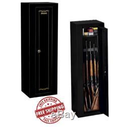 Gun Security Safe 10 Rifles Shotguns Pistols Cabinet Storage by Sentinel Black