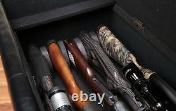 Gun Storage Bench Cabinet Hidden Rifle Storage Compartment Cushion Seat