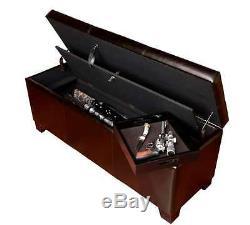 Gun Storage Bench Concealed Rifle Pistol Bench Cabinet Case Ottomon