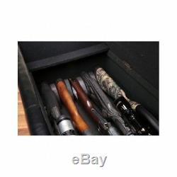 Gun Storage Bench Hidden Cabinet Concealed Rifle Shotgun Safe Lock Guns Firearms