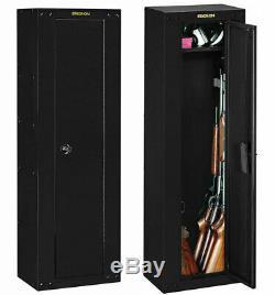 Gun Storage Cabinet Rifle Home Safe Shotgun Security Lock Steel Case Firearm New